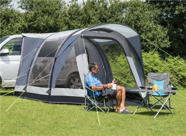 Kampa Travel Pod Action Air L Driveaway Awning - Grasshopper Leisure